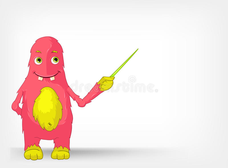 Download Funny Monster. Showing. stock vector. Image of fairy - 25661222