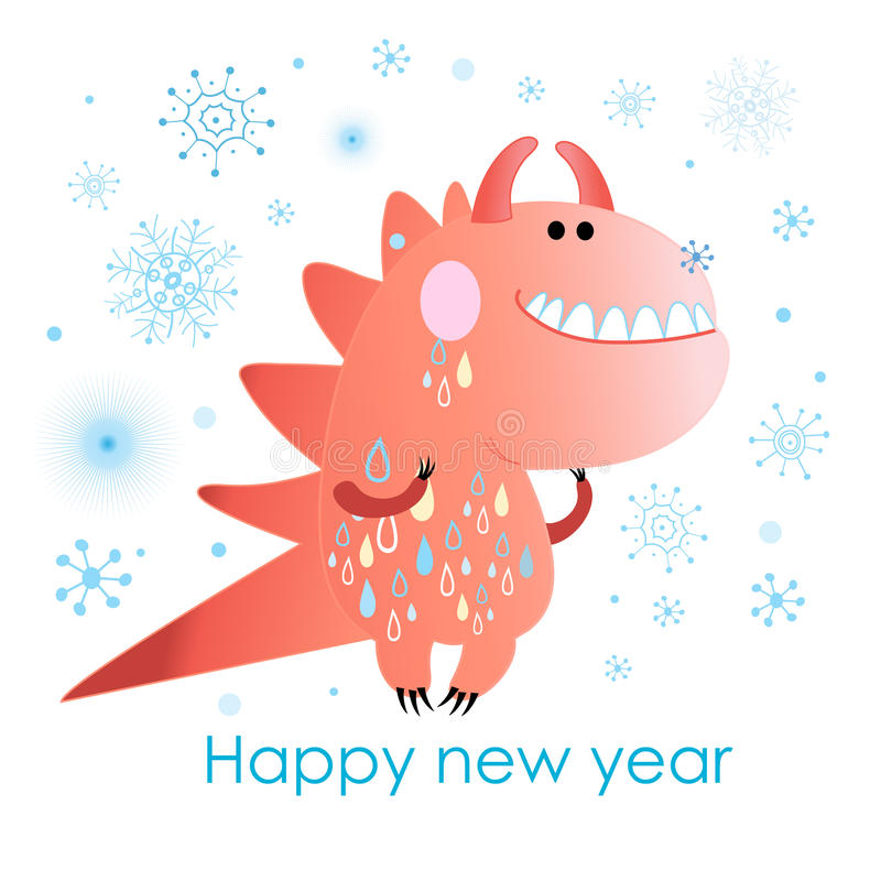 Download Funny monster winter stock vector. Image of holiday, fonts - 34402267