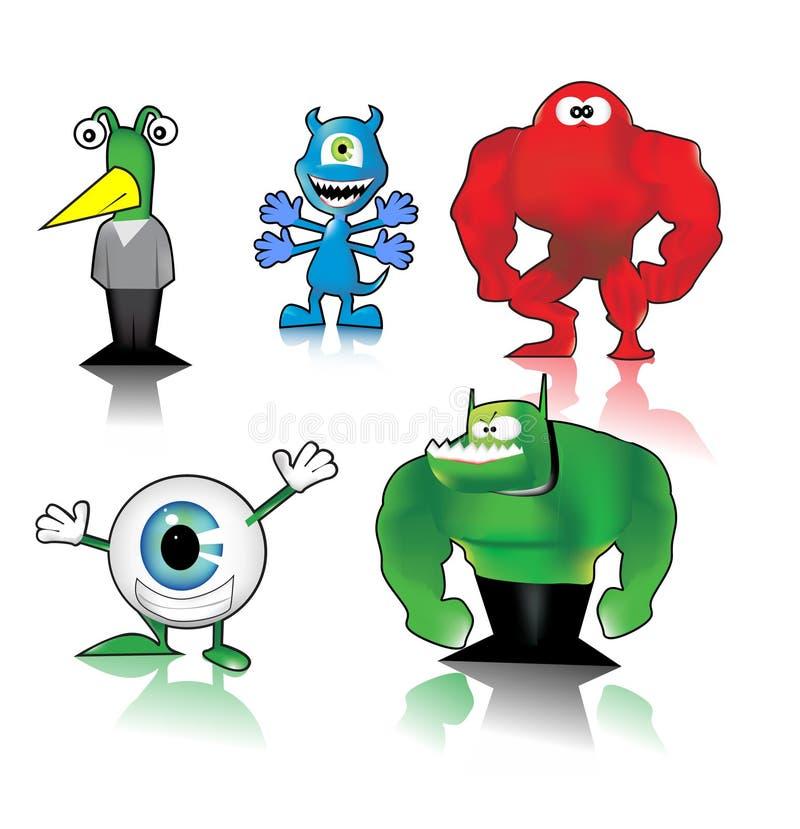 Download Funny monsters stock vector. Illustration of goofy, believe - 14834625