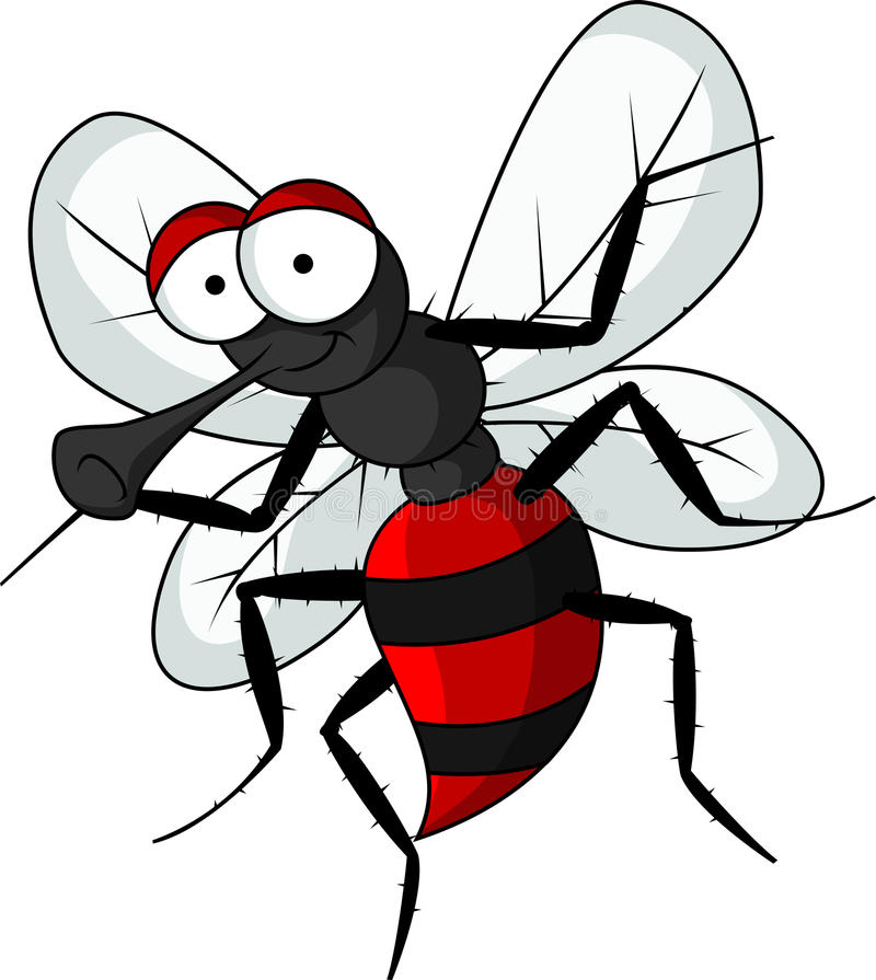 Download Funny mosquito cartoon stock illustration. Image of isolated - 27048179