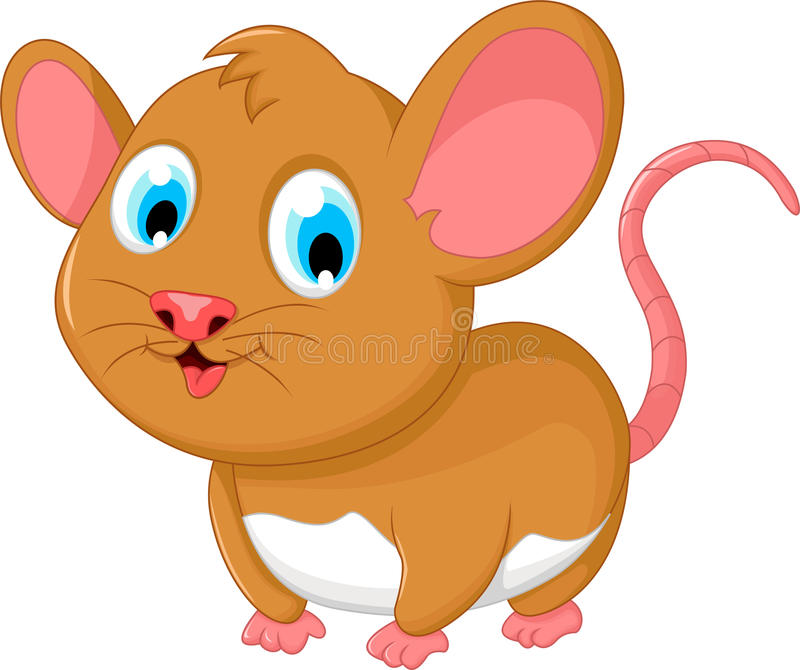 Funny mouse cartoon stock illustration image of path