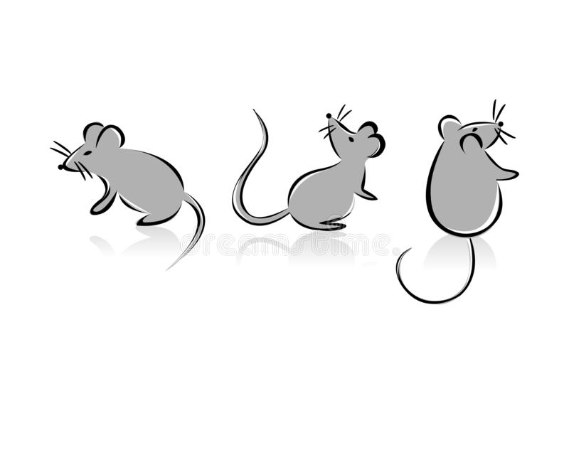 Funny mouses royalty free stock photos