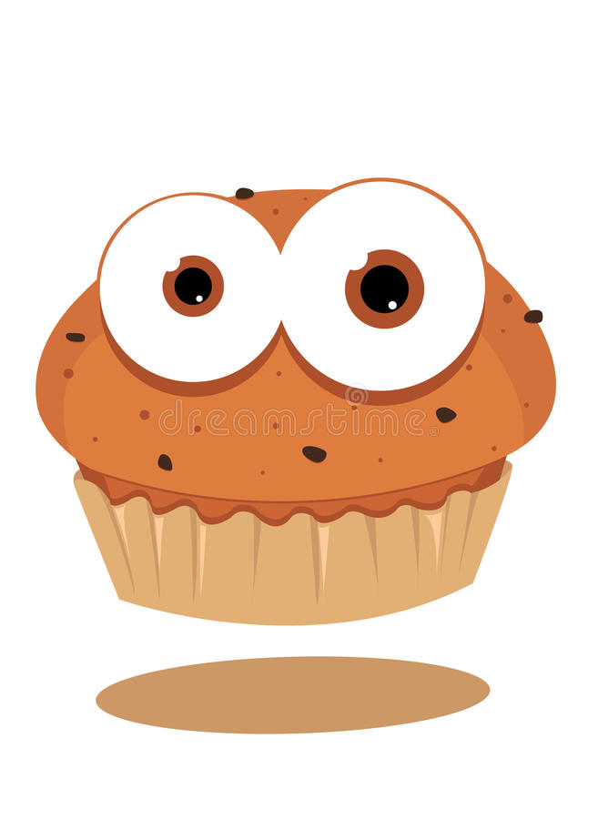Funny Muffin Royalty Free Stock Image