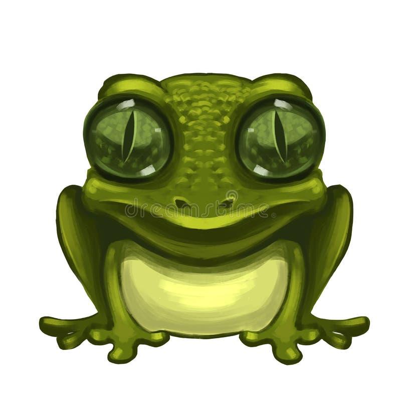 Funny mutant frog. Art sketch vector illustration