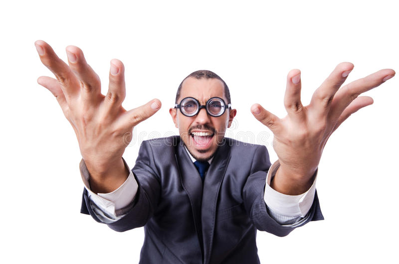 Download Funny nerd businessman stock photo. Image of background - 30345988