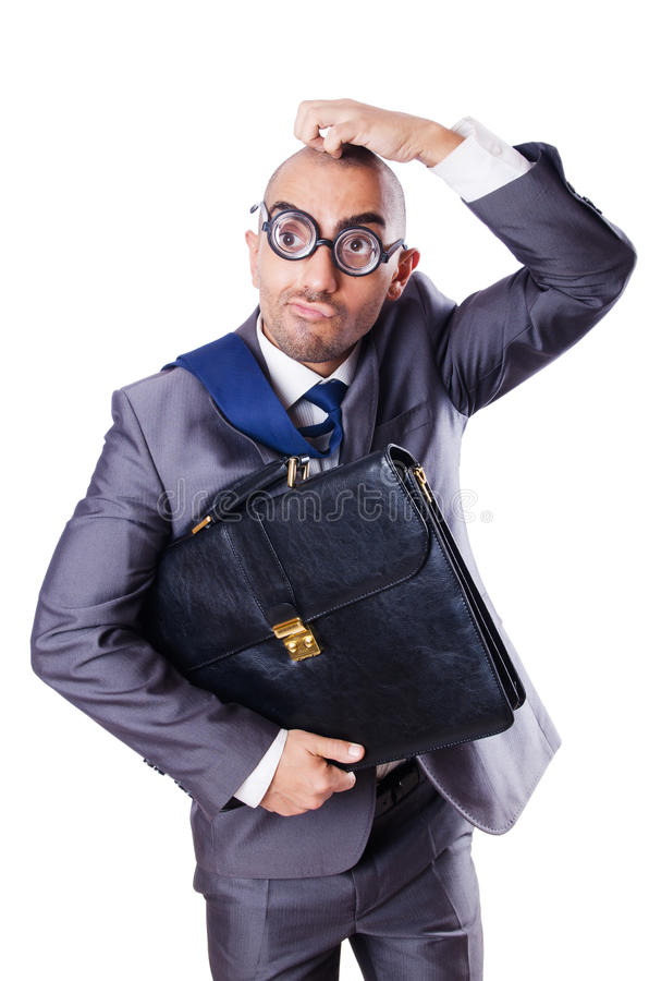 Download Funny nerd businessman stock image. Image of expression - 29914517