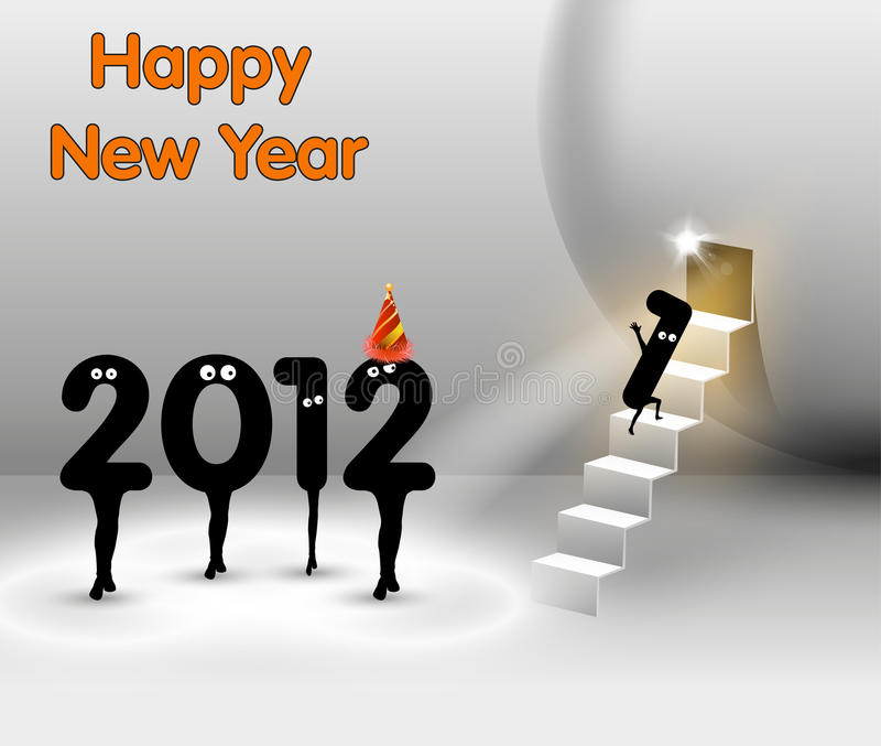 Download Funny New Year card stock vector. Image of annual, card - 22099105