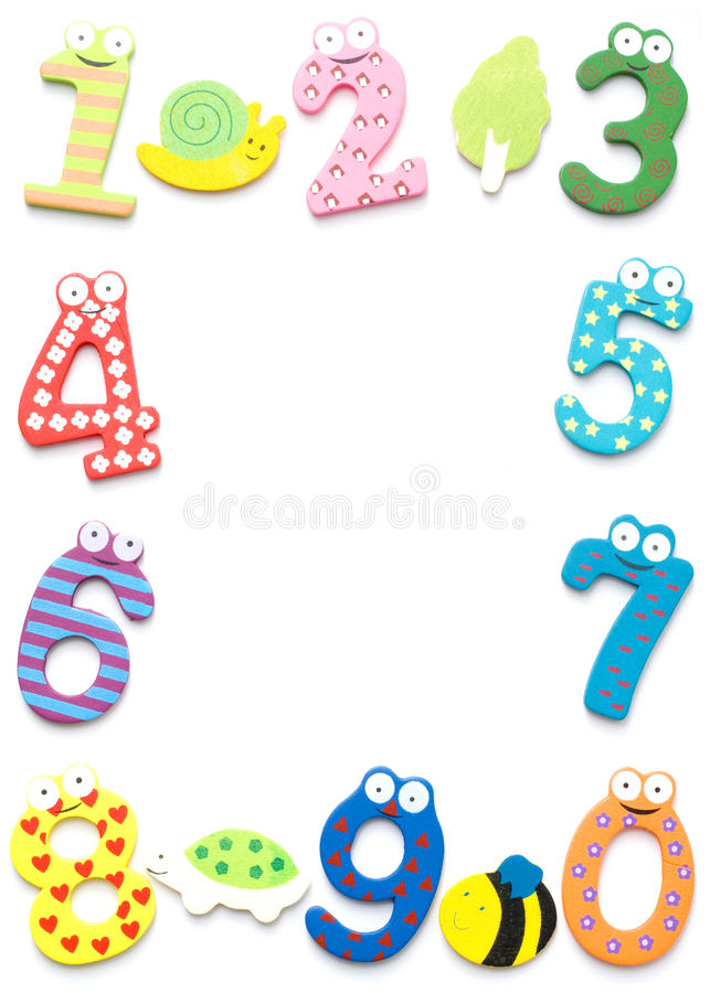 Funny number isolated on white background