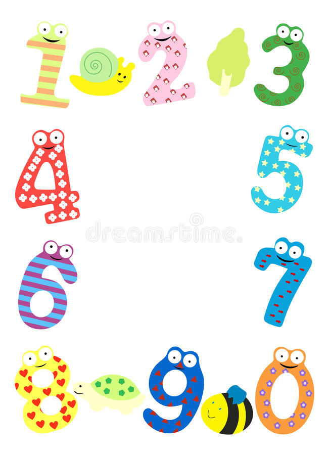 Download Funny number frame stock vector. Image of eight, alphabet - 27396105