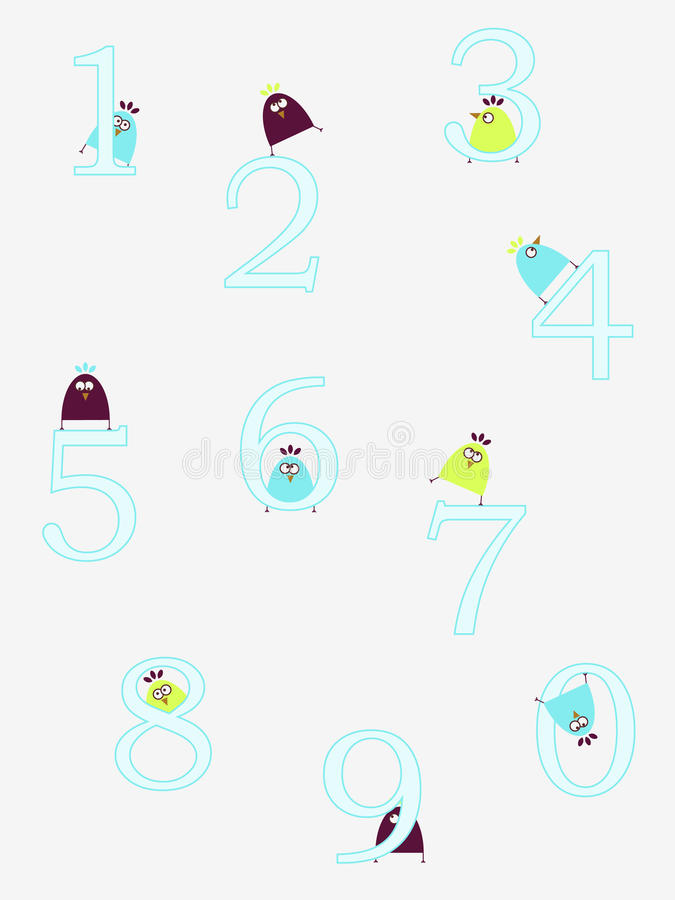 Download Funny numbers stock vector. Image of number, illustration - 10806009