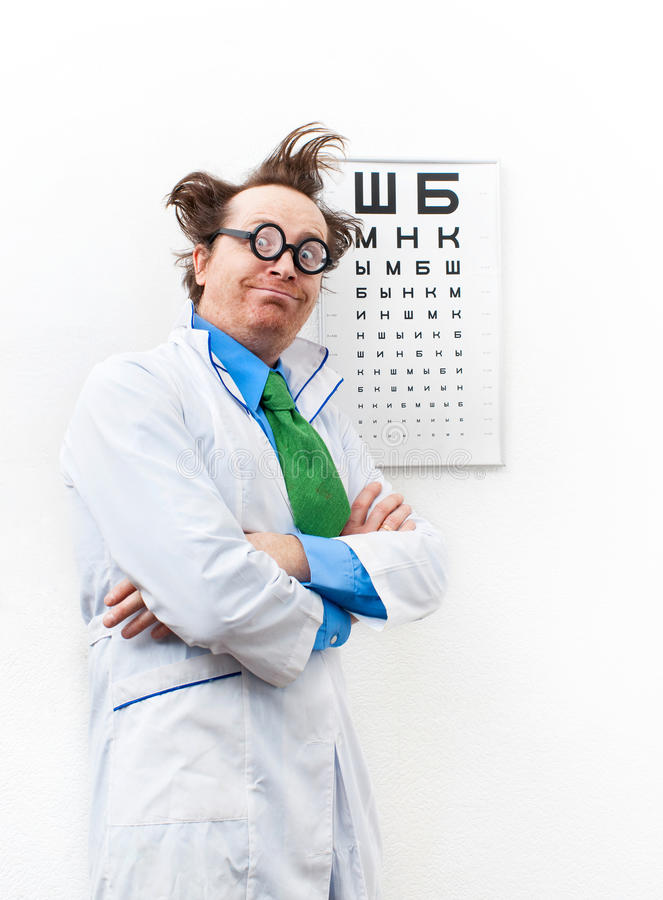 Download Funny oculist stock image. Image of expression, face - 29333499