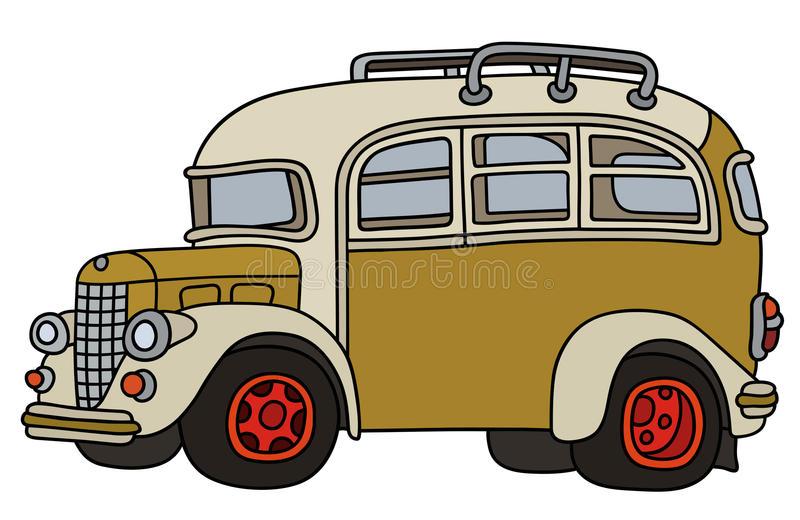 Funny old bus royalty free illustration