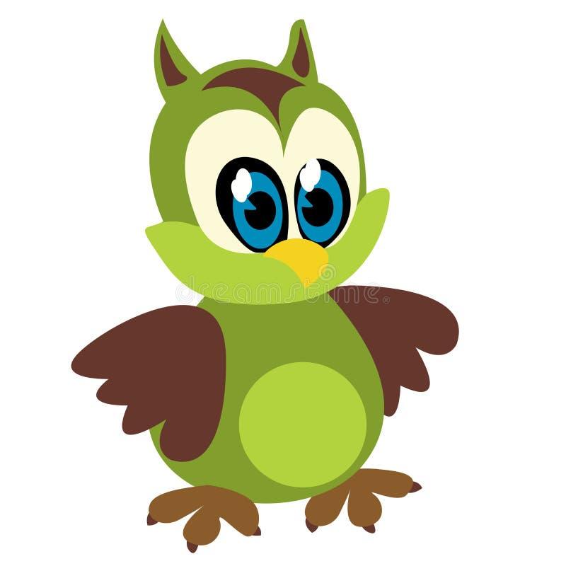 Funny owl royalty free illustration