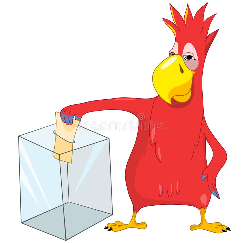 Funny Parrot. Election. Stock Image