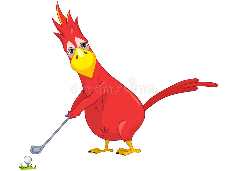 Download Funny Parrot. Golf. stock vector. Image of lifestyle - 25162685