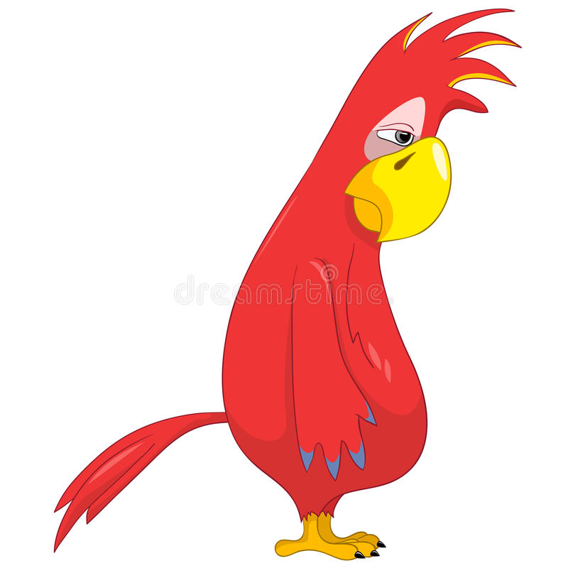 Download Funny Parrot. Sad. stock vector. Image of personality - 25353229
