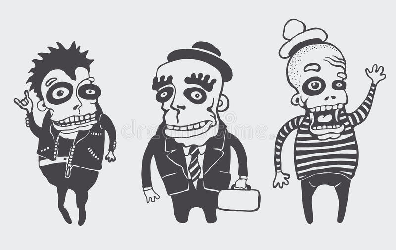 Funny personages set. Vector illustration vector illustration