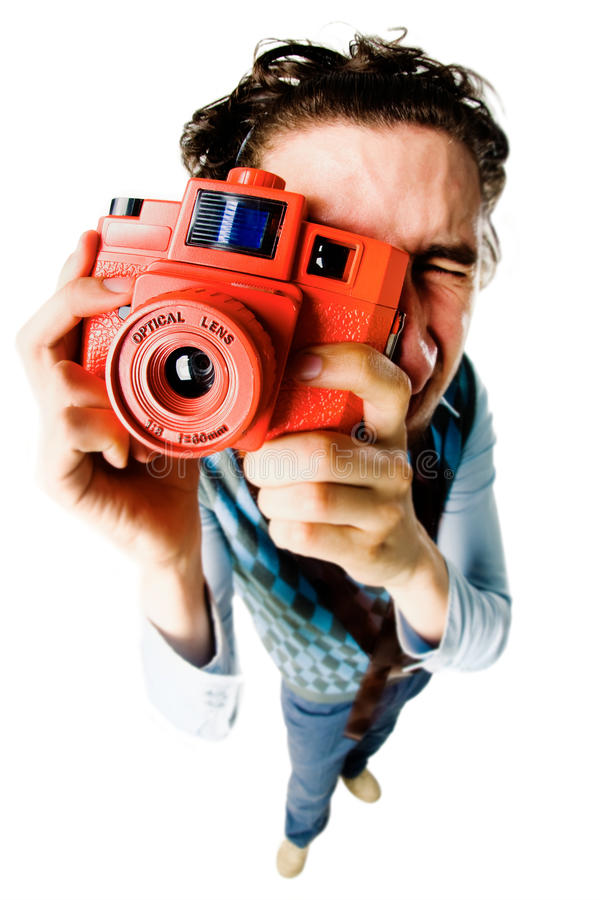 Funny photographer royalty free stock photo