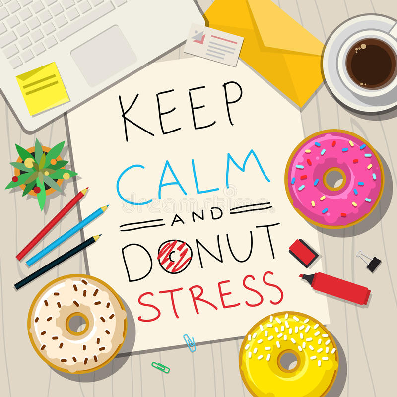 Funny phrases about stress stock vector image 71573899 for Text table design