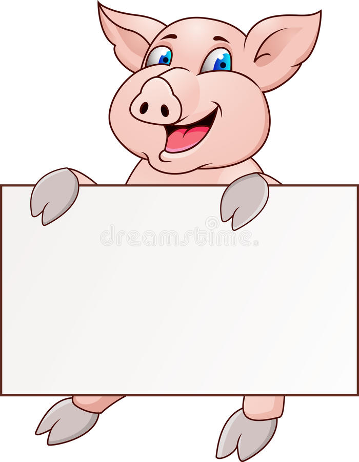 Download Funny pig stock vector. Image of oink, character, nature - 23019554