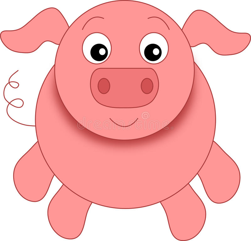 Download A funny pig stock illustration. Image of smiled, colored - 23289722