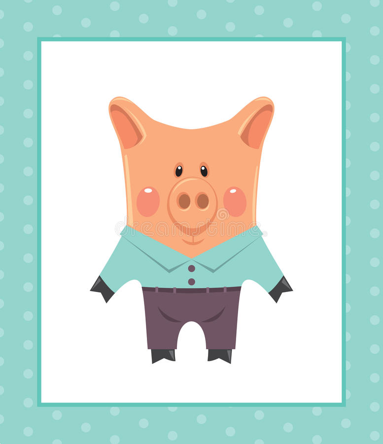 Download Funny piggy stock vector. Illustration of beauty, illustration - 21602839