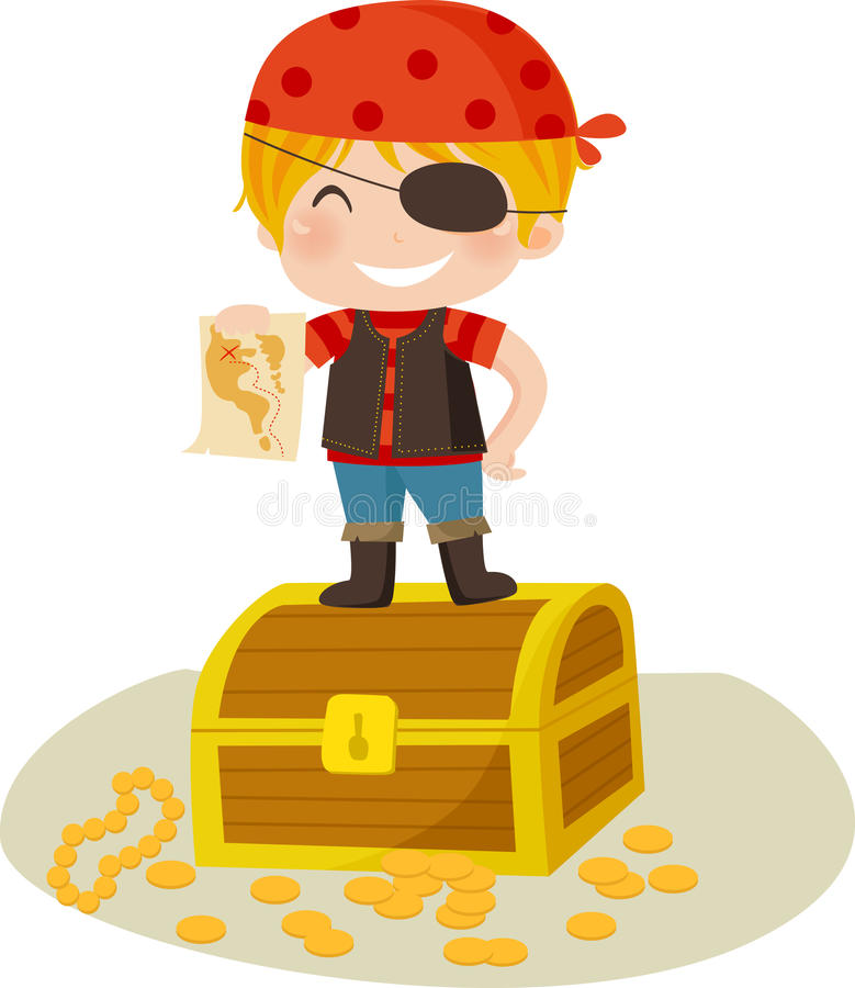 Download Funny Pirate stock vector. Illustration of chest, rich - 15997592