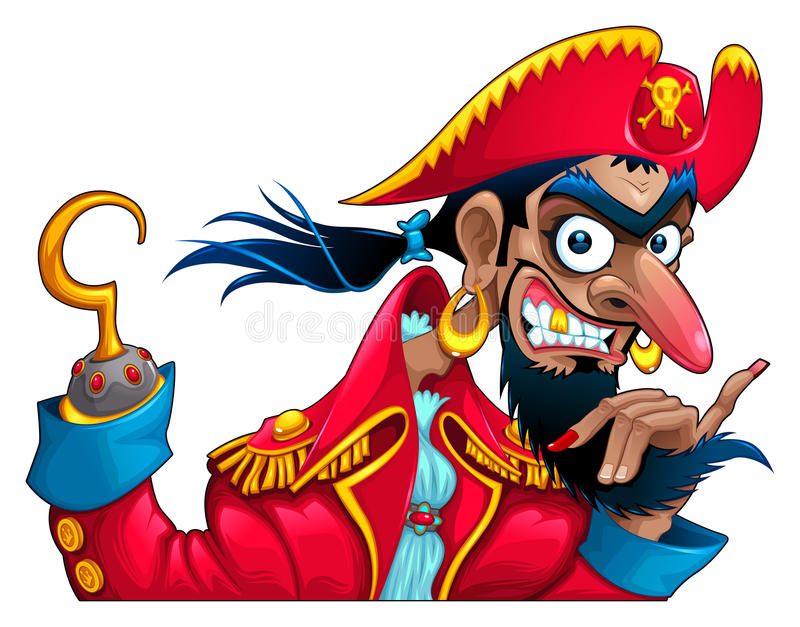 Funny pirate character stock illustration