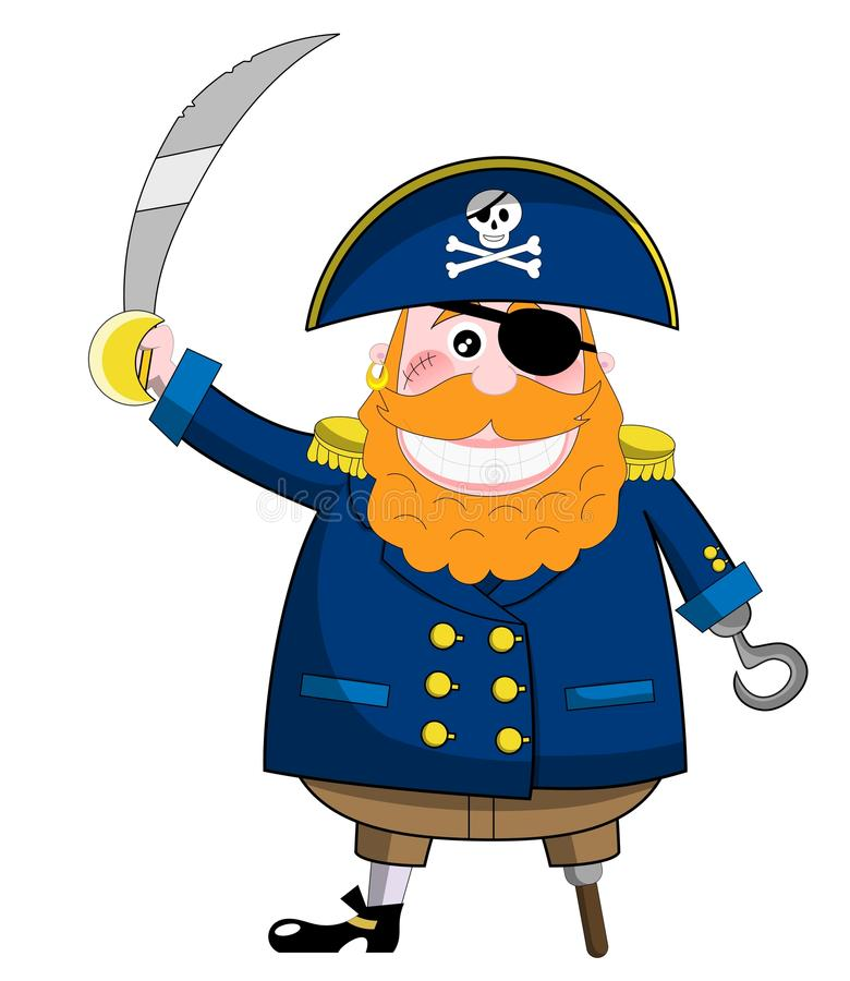 Download Funny Pirate with Sword stock vector. Image of face, bones - 27422686