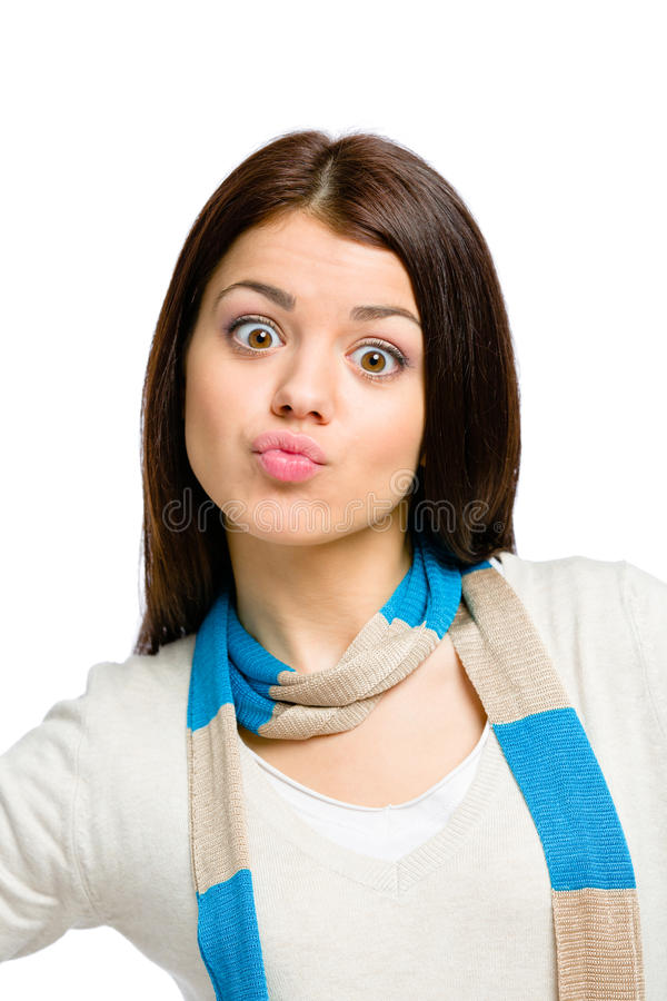 Funny portrait of teenager stock image