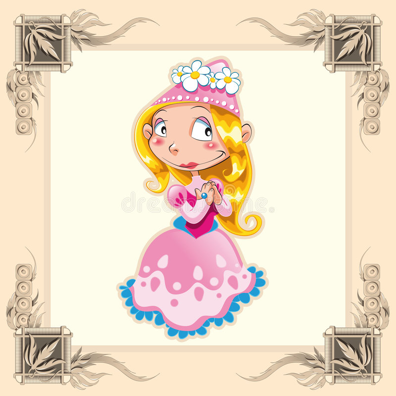 Funny Princess stock illustration