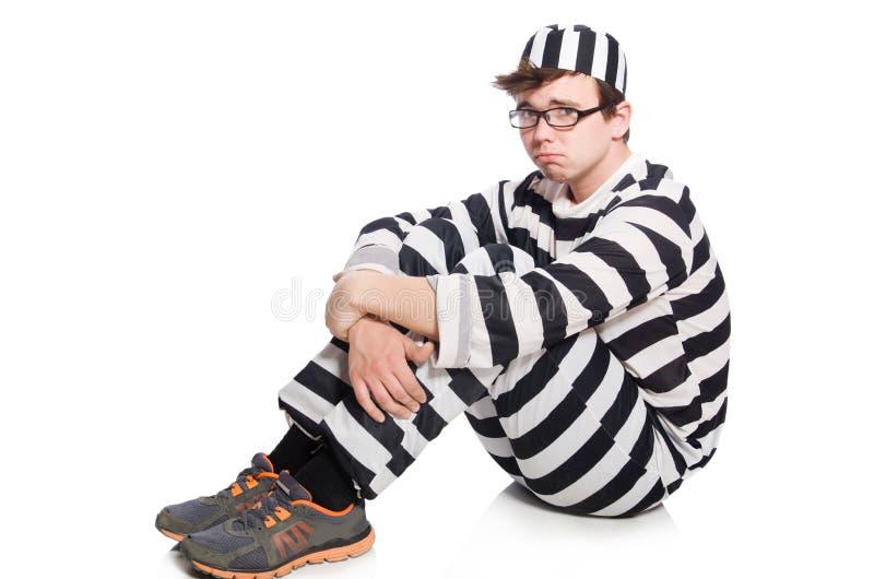 Funny prison inmate. In concept stock photo