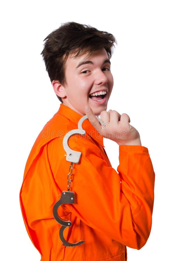 Funny prison. Inmate in concept royalty free stock photo
