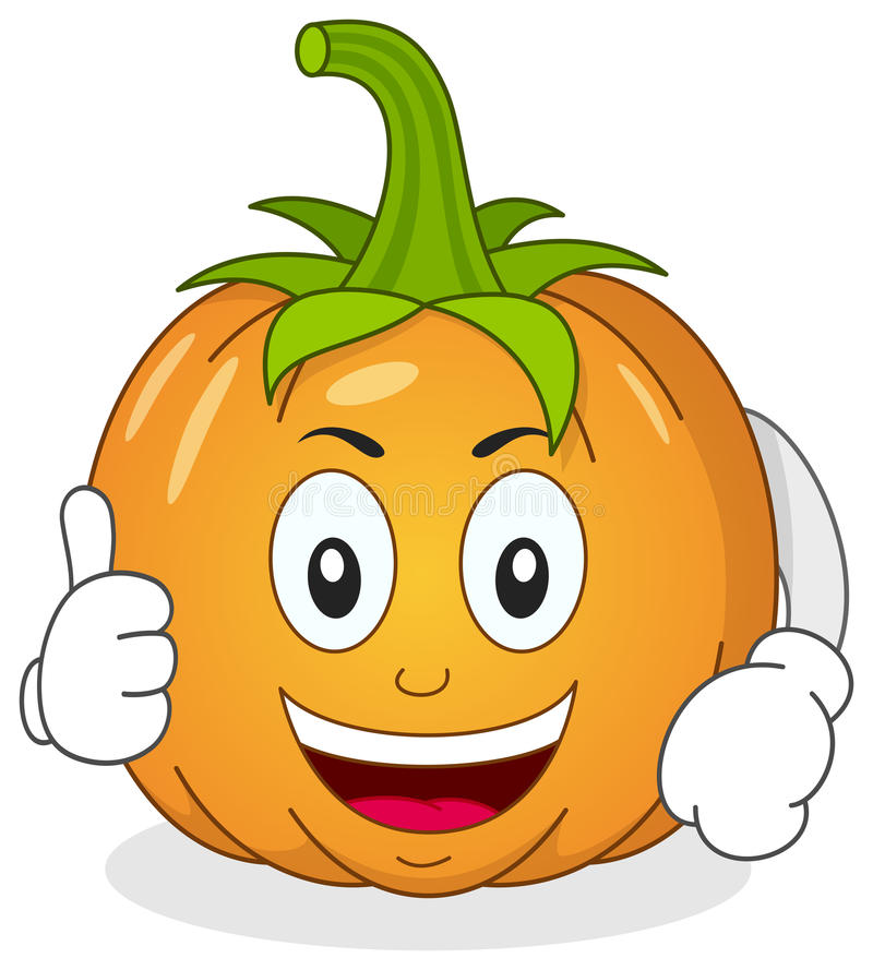 Free Funny Pumpkin Character With Thumbs Up Royalty Free Stock Photography - 41159417
