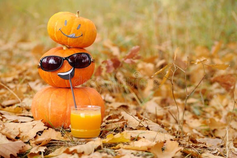 Funny pumpkin. stock image