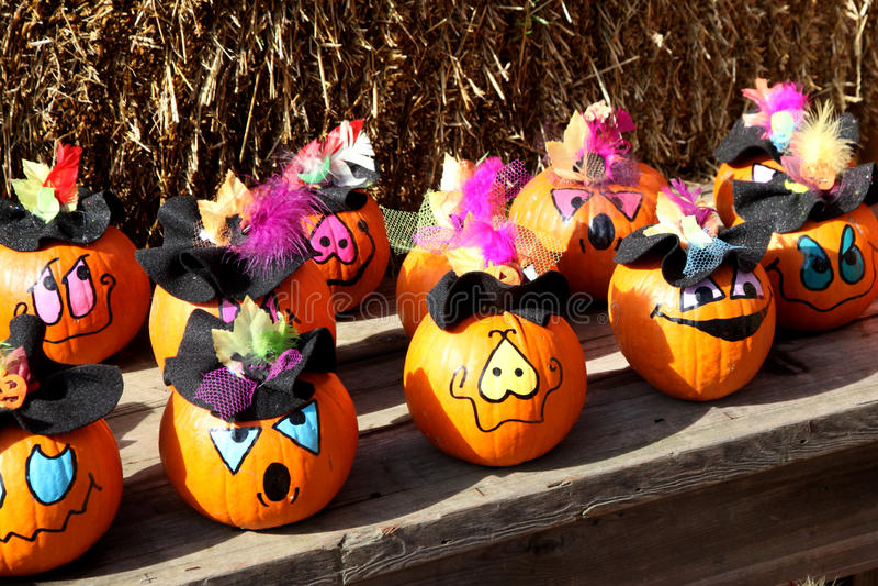 Funny Pumpkins stock images