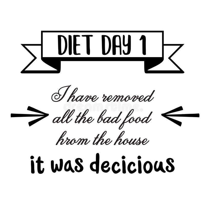 Funny Diet Quotes Stock Illustrations – 28 Funny Diet Quotes ...