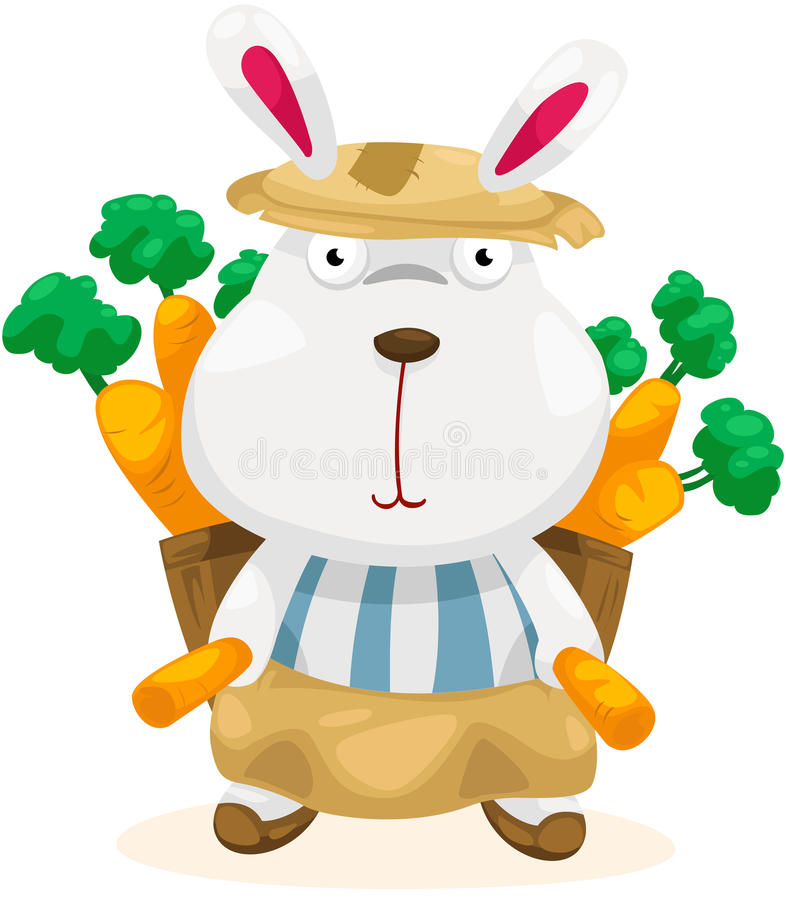 Download Funny Rabbit With Carrot Royalty Free Stock Image - Image: 22505846