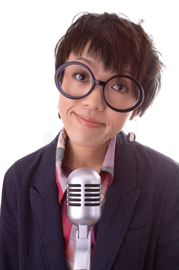 Download Funny Radio Jockey stock photo. Image of asian, lady, stylish - 6720806