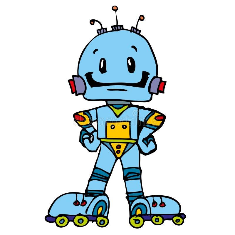 Download Funny robot stock illustration. Image of greeting, blue - 24103736