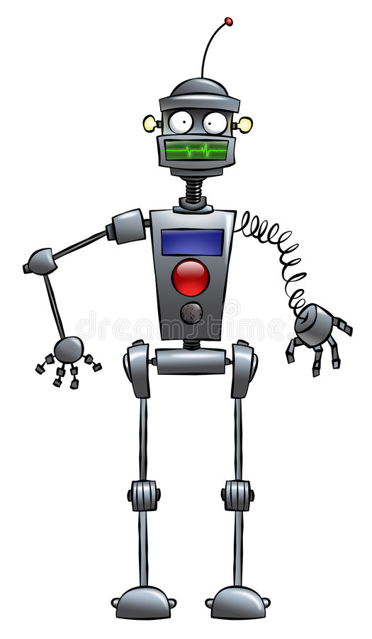 Funny Robot vector illustration