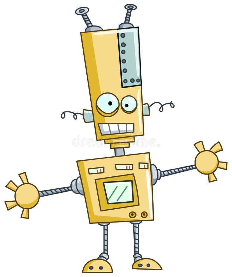 Funny robot royalty free illustration