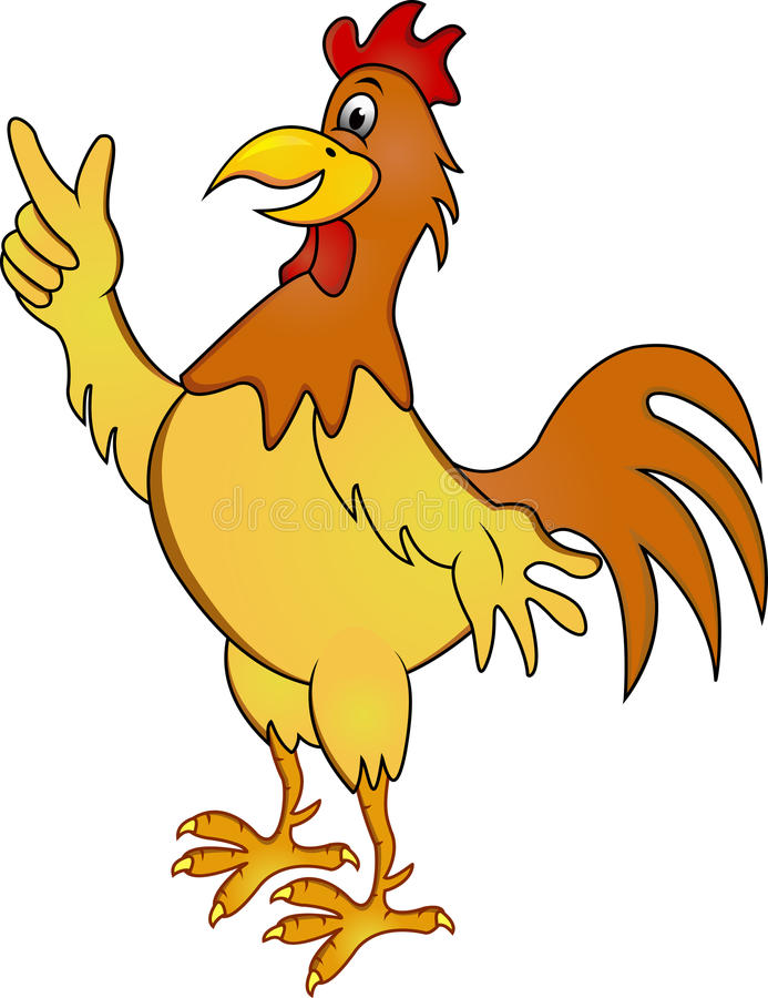 Funny rooster cartoon