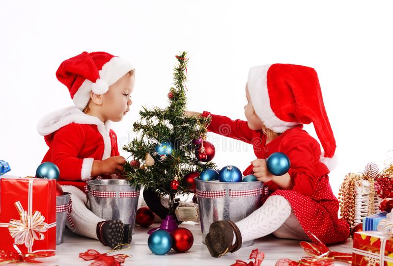 Funny  santa helpers royalty free stock images