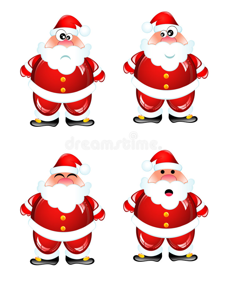 Download Funny Santa humor set stock vector. Illustration of funny - 7478566