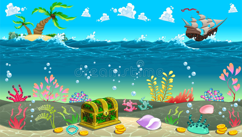 funny scene under the sea stock vector image of color