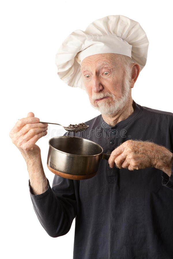 Download Funny senior chef stock image. Image of kitchen, food - 16709251