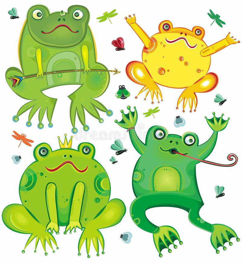 Download Funny  set of cute frogs stock vector. Image of dating - 16349521
