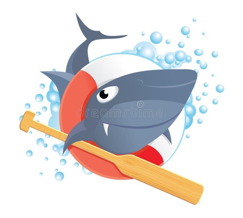 Funny shark stock image