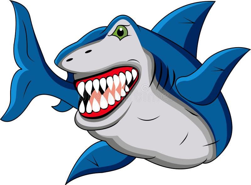 Download Funny shark cartoon stock vector. Image of ocean, movement - 23199678